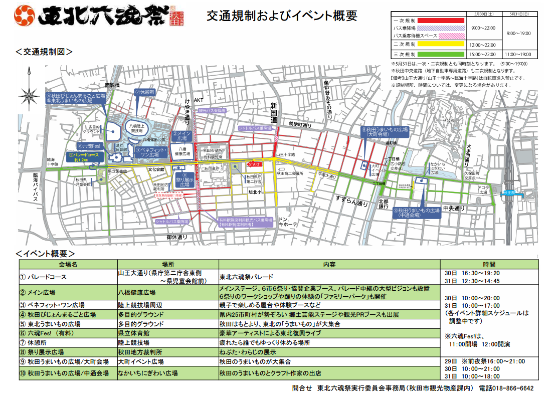東北六魂祭 2015 交通規制
