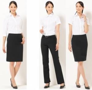 クールビズ 2015 女性 着こなし ファッション パンツ スカート