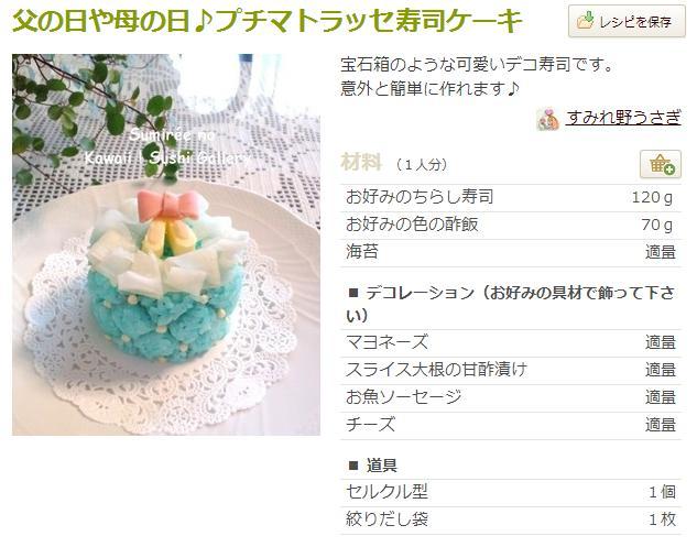 父の日 料理 メニュー レシピ 寿司3