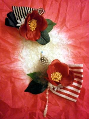 浴衣 2015 流行 色 柄 レトロ コサージュ