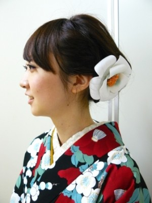 浴衣 2015 髪型 ミディアム ロング