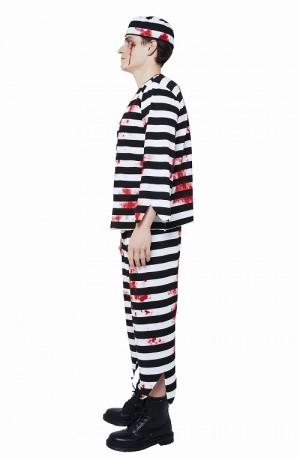 ハロウィン 仮装 衣装 手作り 簡単 囚人