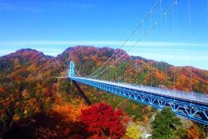関東の紅葉名所スポットランキング2015!見ごろの時期やドライブコースも 竜神峡・竜神大吊橋