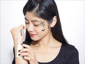 ハロウィン メイク 簡単 可愛い タトゥー シール