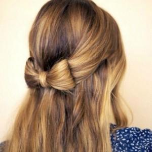ハロウィン 髪型 ヘアアレンジ 簡単 可愛い 長さ別 リボンヘア ハーフアップ