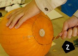 ハロウィン ランタン キャンドル 手作り 作り方 くりぬく