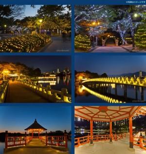 クリスマス デート おすすめ スポット 福岡 大濠公園